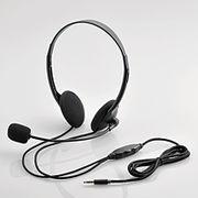 エレコム タブレット用ヘッドセット(両耳小型オーバーヘッドタイプ) HS-HP22TBK