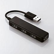 エレコム USB2.0ハブ(4ポートスティックタイプ) U2H-SN4BBK