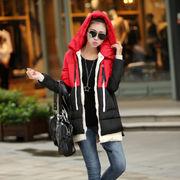 ♪/年韓流新作♪ゆったりとしたフード付きダウンジャケット/鮮やかなカラー/ロングスタイル?厚手綿入れ