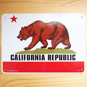看板/プラスチックサインボード カリフォルニアリパブリック(カリフォルニア州旗) CA-46
