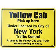 看板/プラスチックサインボード イエローキャブ(タクシー) Yellow Cab CA-39