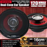 中級モデル カースピーカー XS-E1611 3WAY 16cmタイプ MAX120W 自動車 カーオーディオ スピーカー