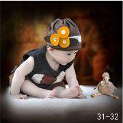 激安☆撮影写真★0-1歳★幼児★花★犬★タンクトップ★帽子+チョッキ+半ズボン★セット