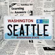 好きな文字にできるアメリカナンバープレート(大・US車用サイズ)ワシントン