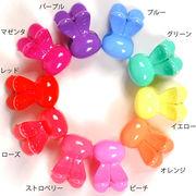 《セール/半額》KIDS☆うさぎのヘアクリップ(2個セット)☆キャンディカラー【キッズヘアアクセ】