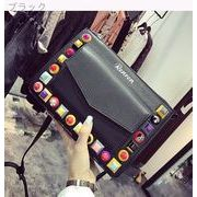 韓国風★ヒットカラー★リベット★封筒バッグ★女★新しいデザイン★春夏★ファッション★クラ