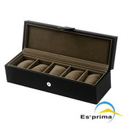 ESPRIMA エスプリマ 腕時計 収納ケース 5本用 ブラック SE55005LBK