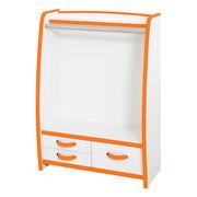 ハンガーラック 幅63cm カラー6色(オレンジ・グリーン・ブルー・オレンジ・レッド・ホワイト・ブラウン)