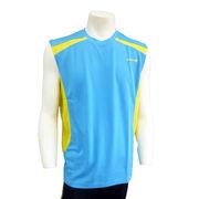 ●☆DOUBLE3メンズ (Men's) スリーブレスシャツ(DW3290)ライトブルー50160