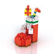 格安☆子供も大人もハマるブロック◆ホビー・ゲーム◆ブロックおもちゃ◆積み木◆玩具◆クリスマスブーツ