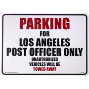 看板/プラスチックサインボード 郵便局員専用駐車場 L.A Post Officer Parking パーキング CA-38