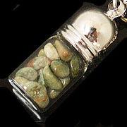 天然石チップ お守り瓶キーホルダー リョーライト(Ryolite)