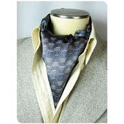 エレガント袋縫いメンズ用100%シルクスカーフ 1013