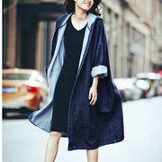 【即納】デニムコート レディース ロングコート コート 大きいサイズ アウター