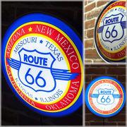 ラウンドウォールランプ Route 66-2★レトロ雑貨 ガレージ看板 アメリカ★