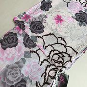 派手系浴衣SALE【プレタ】白柄  変わり織 現品限り ※浴衣のみのお値段です。