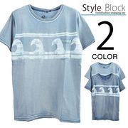 カットデニムプリントポケットTシャツ/sb-255693