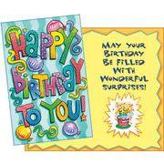 Stockwell Greetings グリーティングカード バースデー 風船×ケーキ