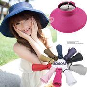 サンバイザー UV/サンバイザー 人気     サンバイザー レディース麦わら帽子    8colors