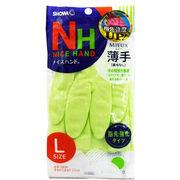 ナイスハンドミュー 薄手 手袋 Lサイズ グリーン