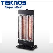 テクノス カーボンヒーター 900W/450W管2灯切替式 ブラック CHM-4531-K