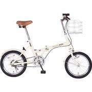 16型折畳自転車 シンプルスタイルFV16 バスケットセット SS-H16/ST【代引不可】【包装不可】