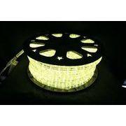 【ウォームホワイト・温白】LEDチューブライト(ロープライト)2芯タイプ/100m/直径13mm/3000球