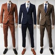 スーツ 上下セット メンズ 3色 大きいサイズ M-3XL 100617