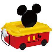 【ケース販売は送料無料!!】錦化成 キャラクターボックス ミッキーマウス おもちゃ箱 浅型