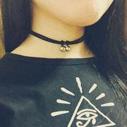 激安☆雑誌掲載★欧米★パンク★ネックレス★首飾り★鈴★レザー
