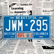 好きな文字にできるカナダナンバープレート(大・US車用サイズ)ブリティッシュコロンビア