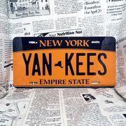 好きな文字にできるアメリカナンバープレート(大・US車用サイズ)ニューヨーク2010