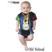 FAUX Infant Old School Rapper Rompers  13477
