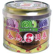 金鳥の渦巻 3種の香り 缶入 線香皿付 30巻入