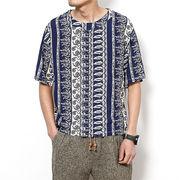 ネイティブ柄 半袖Tシャツ 100839