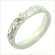 誕生石5号〜19号ハワイアンジュエリーシルバー指輪名入れバレルスクロールカレイキニ