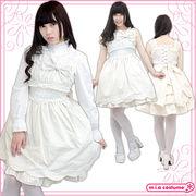 ■送料無料■バッスルジャンパースカート サイズ:M/BIG 色:オフホワイト