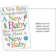 Stockwell Greetings グリーティングカード 出産祝い用 ベビー×ハート