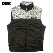 DGK(ディージーケー)メンズ中綿ベストアウトレット3237-c-bk