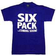 シックスパック Tシャツ 半袖 青 ブルー L 腹筋 筋トレ