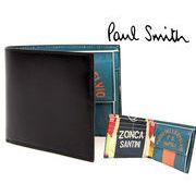 ポールスミス PAUL SMITH 二つ折り財布(ブラック×サイクルジャージプリント)【ARXC 4833 W778 B】