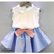新登場!!★★キッズのアパレル★女の子 Tシャツ+スカート