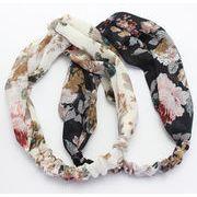 愛らしい ヘアバンド レトロスタイル ヘアアクセサリー 花柄  清々しい   小顔効果  布製 二色