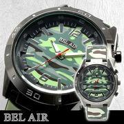 【ミリタリー仕様】★Bel Air Collection ミリタリー メンズ腕時計 OSD32xLGRE  【保証書付】