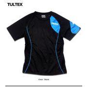 ★TULTEX★機能性にも優れたドライ素材アシンメトレーデザインメッシュ切替Tシャツ!★