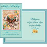 Stockwell Greetings グリーティングカード バースデー ティータイム×フラワー