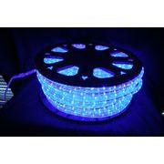 【ブルー・青】LEDチューブライト(ロープライト)2芯タイプ/100m/直径10mm/3000球