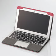 �G���R�� MacBook Air�p�t�@�u���b�N�J�o�[ MB-A11FCRD