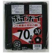 ●☆ ポリ袋70L(黒) P7005-1 厚0.05mm 10枚×30冊 1冊あたり230円(税抜) 07090
