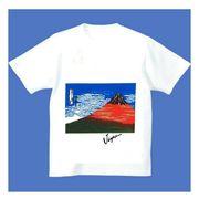 FJK 日本 お土産 Tシャツ 浮世絵 Sサイズ (ホワイト)No.22-S